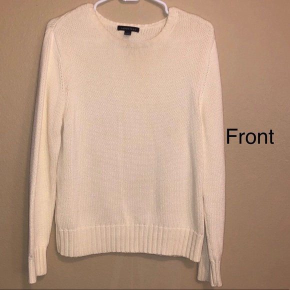 014e8977bf Lands  end Thick white knit Sweater